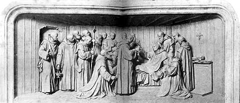 Saint Bruno dying